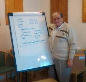 Irving Pearce - 81 year old student on recent SafetyNow NEBOSH health and safety course